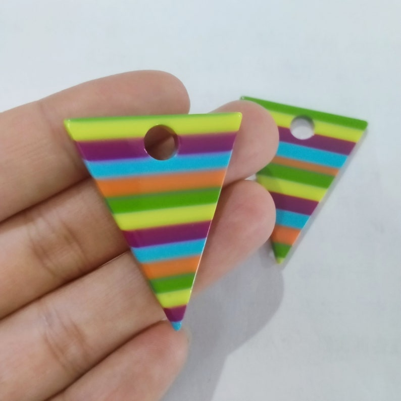 6pcs Acrylic Tortoise Shell Acetate Acrylic Earring Supply Triangle Shape Earring connector-Earring findings-jewelry supply 38mm*31mm