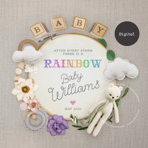 Digital TextEmail Scratch Off GIF Rainbow Baby Pregnancy Reveal