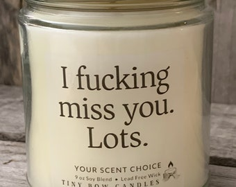 I Fucking Miss You Bitch funny Long Distance Best Friend Forever Bff Mason Jar with Screw Cap and Reusable Drinking Straw Glass 12 Oz