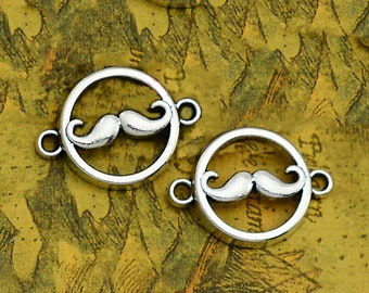 20pcslot beard charms Antique silver plated mustache charms pendants DIY supplies Jewelry accessories 43x11mm