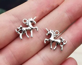 Unicorn Charms Unicorn Pendants Assorted Charms Set Antiqued Silver Charms Bronze Charms Mixed Charms Lot Big Pendants up to 1.96 22pcs