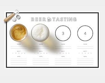 PRINTABLE: Beer Tasting Score Sheet / Placemat