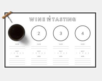 PRINTABLE: Wine Tasting Score Sheet / Placemat