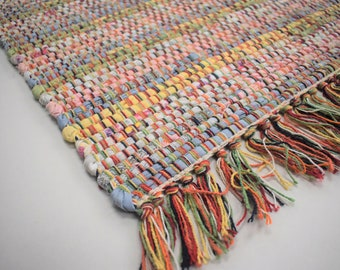 Candy  Rag-Rug - Hand Made from Recycled Cotton Rug