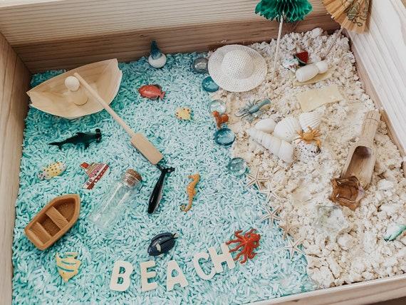 Beach ocean sea summer sensory bin kit