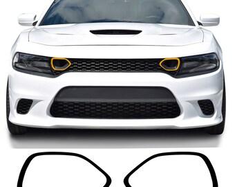 Vinyl Graphics Decal Wrap Kit RT HOOD HASH for 2011-14 Dodge Charger MATTE BLACK