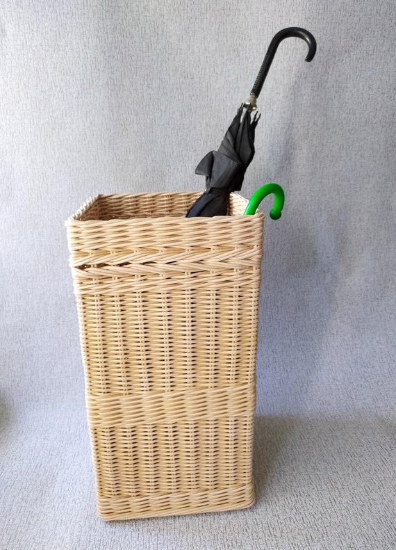 Wicker Umbrella Stand Hallway Basket Holder Etsy