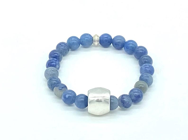 Blue Aventurine BraceletBracelets for Women Gemstone JewelrySemi Precious BeadsBeaded Mantra BraceletGift IdeasHealing Crystals