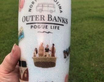 Outer Banks Glitter/Waterslide Tumbler