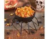 Adorable Metal Spider Candy Bowl Best Trick or Treat Halloween Harvest Outdoor Indoor Food Serving Storage Decoration