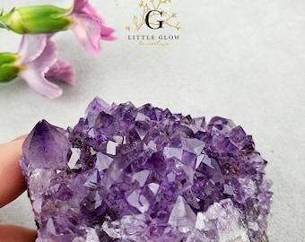 beautiful amethyst crystal step from Uruguay, width: 7.5 cm, 236 g