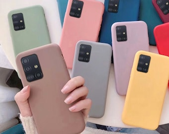Samsung Galaxy Phone Case s10 s20 Plus Note 10 Plus s8 s9 s8 s20 Ultra Plus s10e Silicone Matte Pastel Solid Cell Phone Case Cover