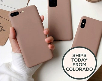 Coffee Brown iPhone Case for iPhone 11 12 XR X XS Max 6s 7 8 Plus and 11 Pro Max   Creamy Matte Coffee Solid Iced Coffee Silicone