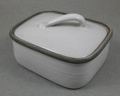 angular butter tin