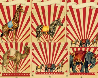 Vintage Circus Digital Download - Vintage Circus Images - Vintage Image Download - Multi Files - Circus Party _ Circus Theme
