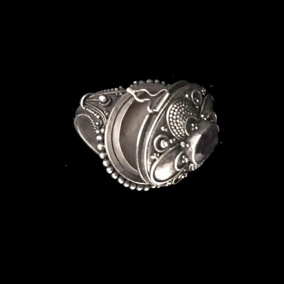 Vintage poison ring//c.1960/ sterling silver pois… - image 10