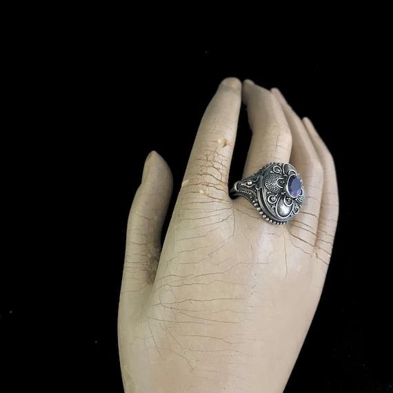 Vintage poison ring//c.1960/ sterling silver pois… - image 6