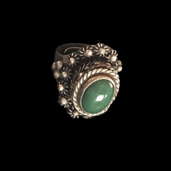 Vintage poison ring//c.1960//Mexican sterling silv