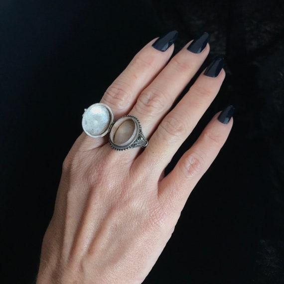 Vintage poison ring//c.1960/ sterling silver pois… - image 3
