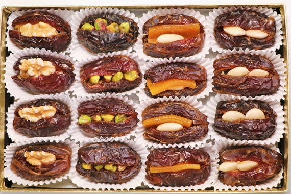Stuffed Medjool Dates Assorted Dates with Nuts Luxury Dates