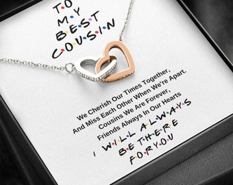 Cousin Necklace Silver Gift for Women Meaningful Gift 14kt Gold Filled Cousin Present Giftable Jewelry Family Gift Rose Cousin Gift