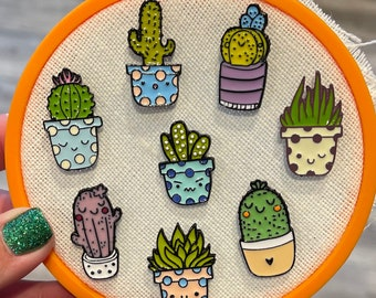 Cactus Acrylic Needle Minder Cross Stitching Hand Needle Notion Embroidery