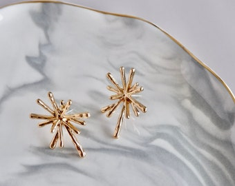 Sparkle Gold Earrings- Statement Earrings- Stud Earrings- Jewelry Findings- Minimalist Jewelry- Dainty Jewelry- Gifts for Mom- Earring Stud