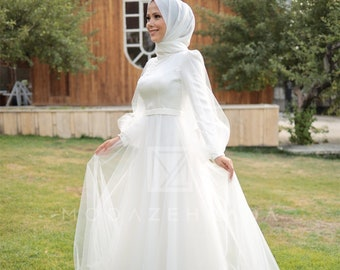 Muslim Wedding Dress Etsy,Special Occasion Evening Dresses For Weddings