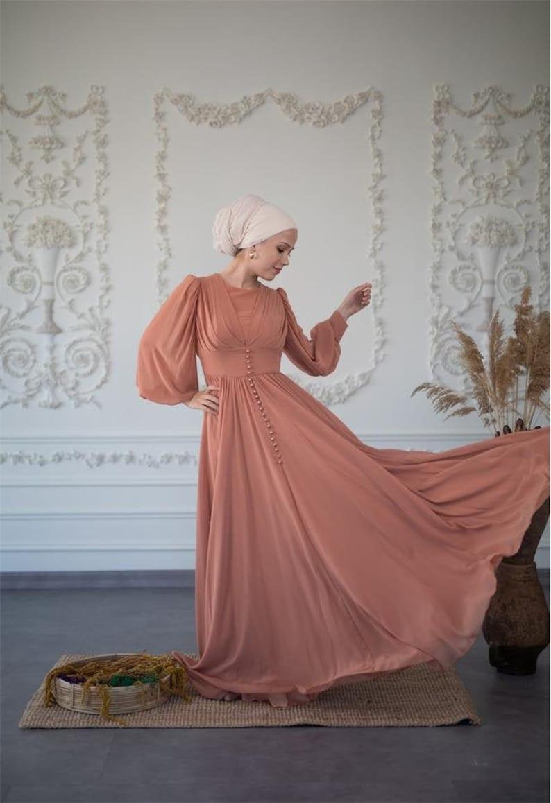 10+ Websites with 1940s Dresses for Sale Biscuit Muslim Wedding Dress Long Dress Evening Gown Long Sleeve Maxi Dress Islamic Dress Nikah Hijab Bridesmaid Engagement Henna $88.00 AT vintagedancer.com