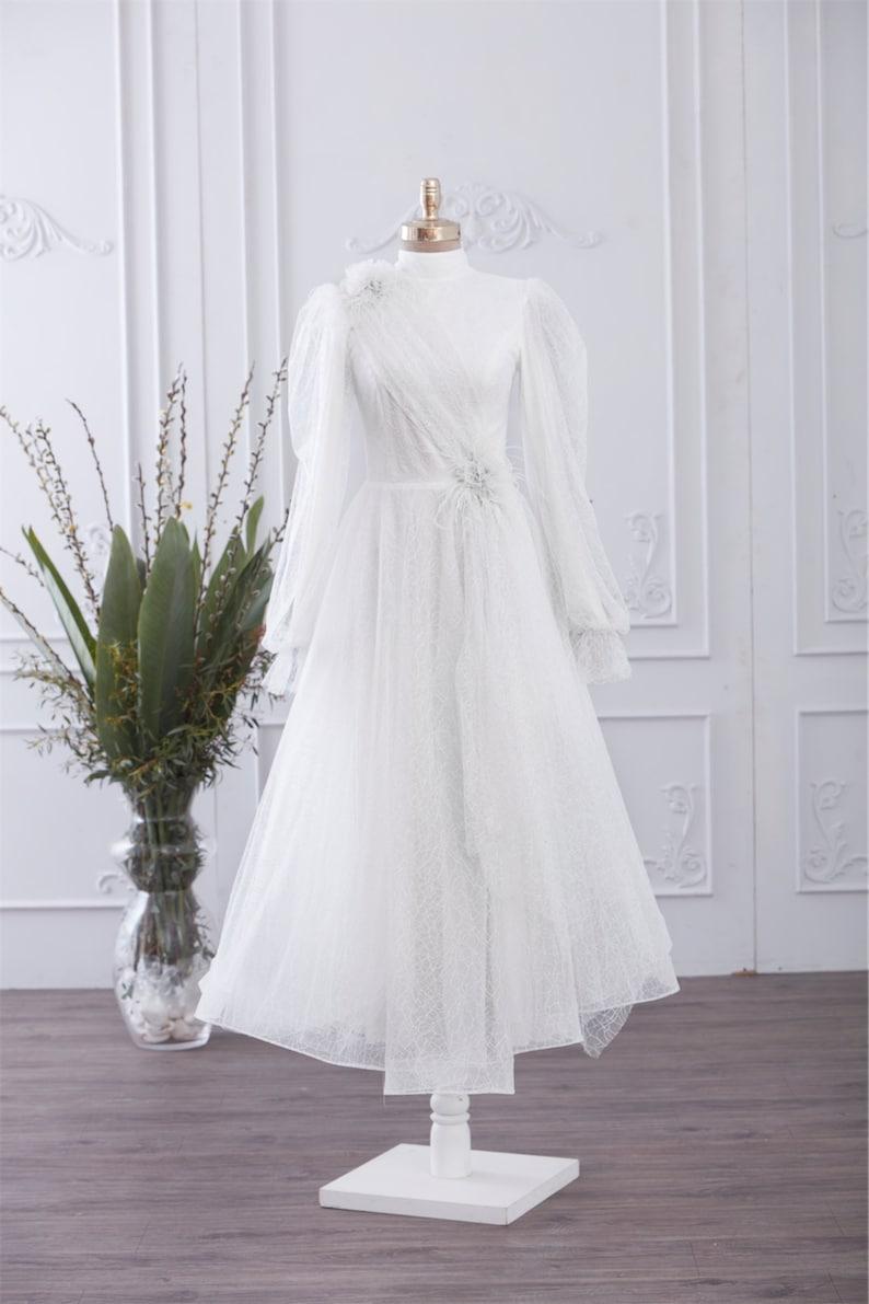 1940s Style Wedding Dresses | Classic Wedding Dresses Muslim Wedding Dress Long Dress Evening Gown Long Sleeve Maxi Dress Islamic Dress Nikah Outfit Hijab Bridesmaid Engagement Henna $217.80 AT vintagedancer.com