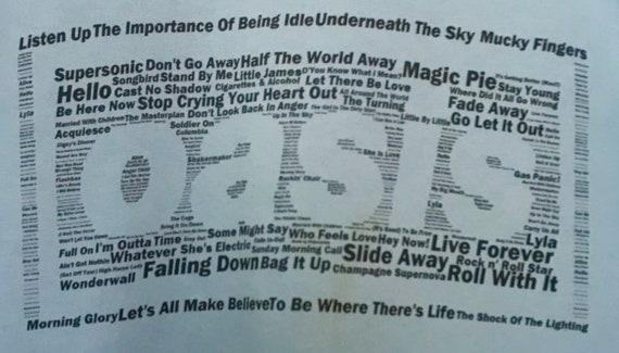 Vintage Oasis British Pop Group