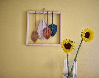 Macrame leaves/feathers wall hanging
