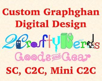 CUSTOM Graphghan Pattern SC, C2C, or Mini C2C