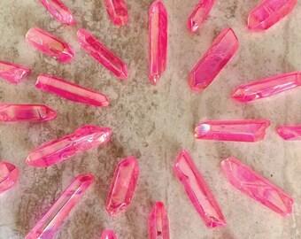 Pink Aura Titanium-Coated Quartz Point – 1 Medium Stone