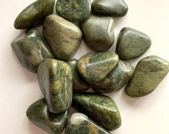 "Tumbled Green Jasper — 1 Stone, Grade ""A"""