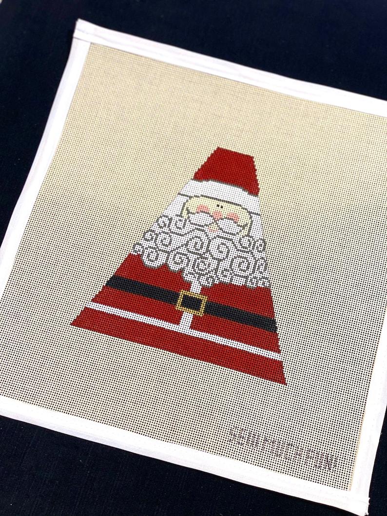Modern Santa Needlepoint Canvas