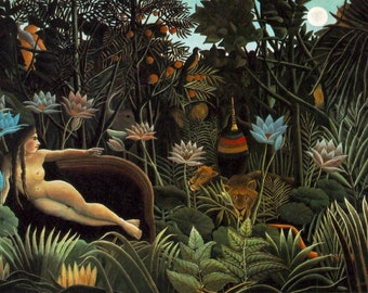 The Dream by Henri Rousseau hand-painted reproduction in oil