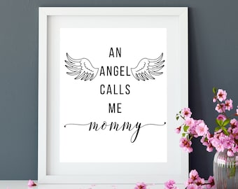Angel Baby, Infant Loss, Pregnancy Loss, Miscarriage, Baby Loss, Sympathy Gift, Baby Memorial, Loss Of Baby, Angel Wings, Print Wall Art PDF