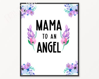 Mama To An Angel | Loss Of Baby, Baby Loss, Infant Loss, Pregnancy Loss, Miscarriage Sympathy Gift, Ectopic Pregnancy, Angel Baby, Flowers