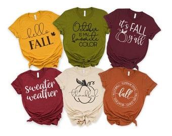 Fall  Files - Fall  Design - Fall saying - Fall Designs for Shirts - fall shirt bundle - Hello Fall Shirt-Halloween