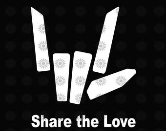 Share Love Svg Etsy