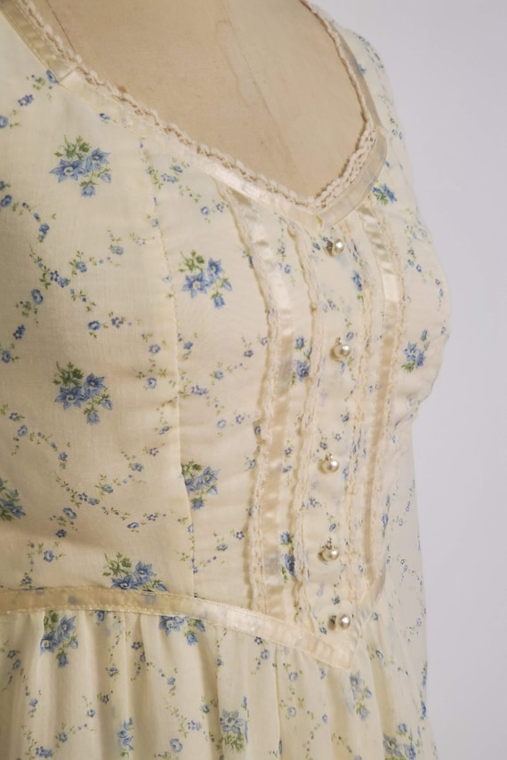 1970's Long Prairie Dress || Gunne Sax Style || W… - image 9