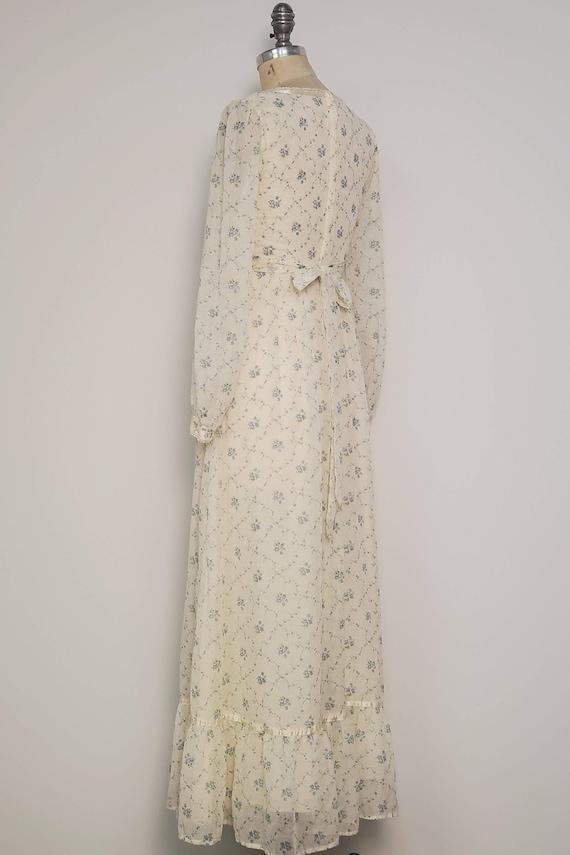 1970's Long Prairie Dress || Gunne Sax Style || W… - image 3