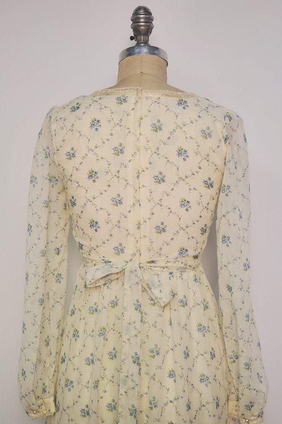 1970's Long Prairie Dress || Gunne Sax Style || W… - image 7