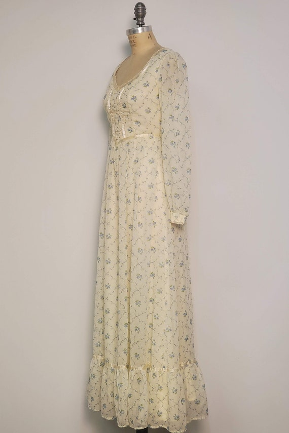1970's Long Prairie Dress || Gunne Sax Style || W… - image 2