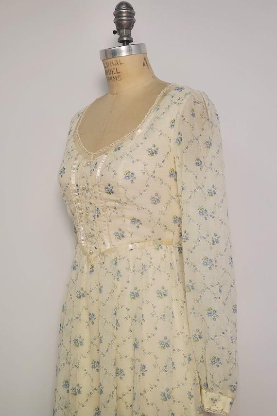 1970's Long Prairie Dress || Gunne Sax Style || W… - image 6