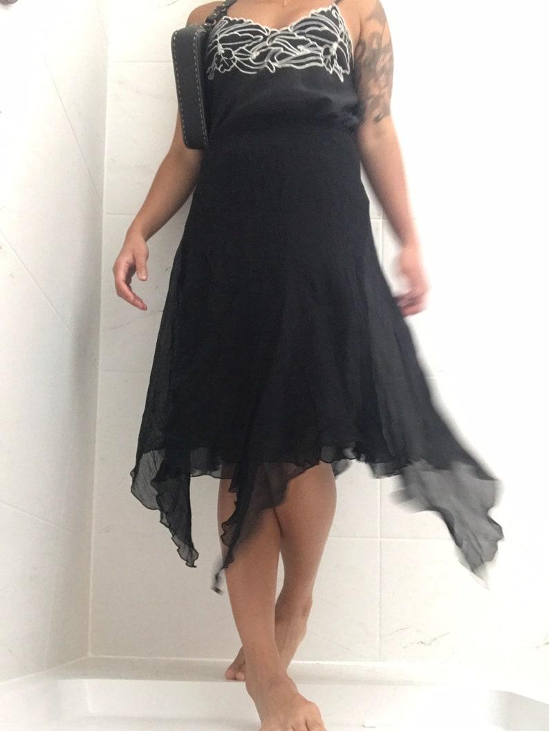 JOSEPH Black Crinkled Silk Skirt