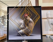Optional Magnetic Stand for Square Wave kinetic sculpture by Ivan Black