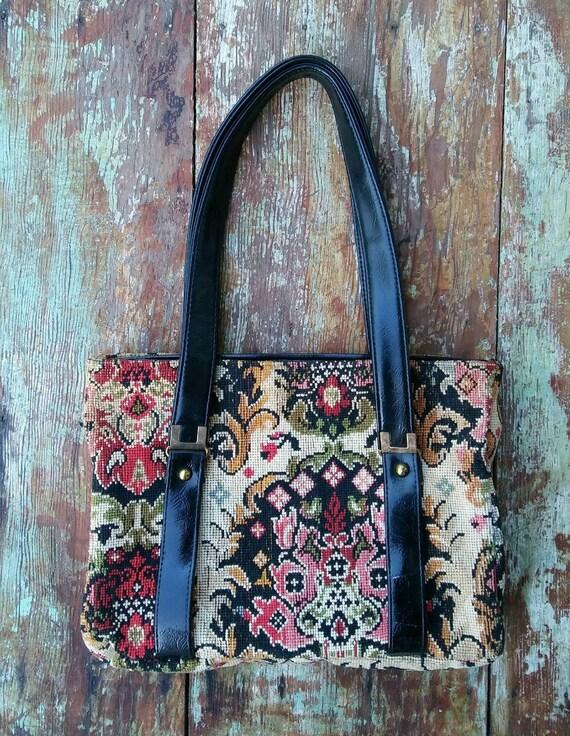 Vtg Gypsy Tapestry Purse