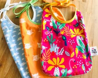 Children's bib, coloured fabric / NOUAGE